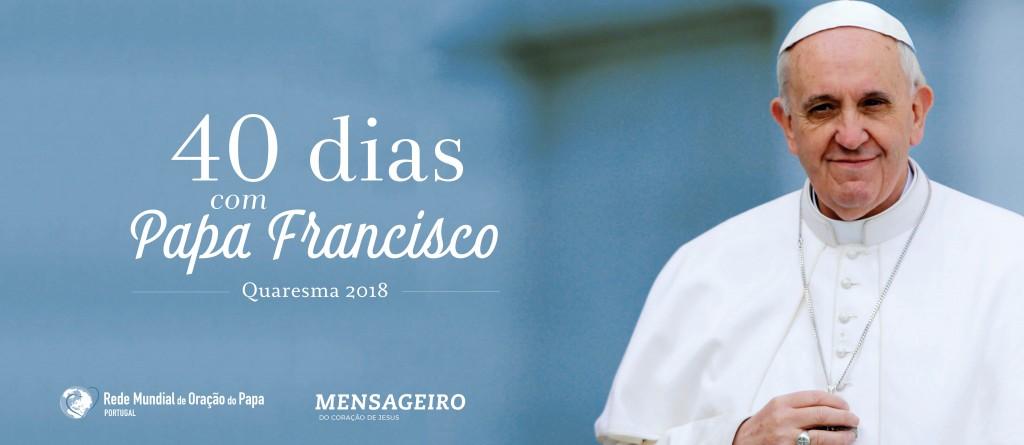 """Rede Mundial de Oração do Papa propõe """"40 dias com Papa Francisco"""" na Quaresma"""